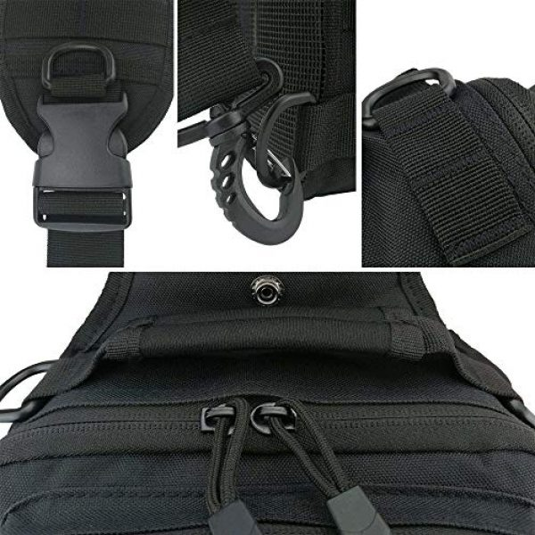 VooDoo Tactical Tactical Backpack 3 Tactical Sling Bag Military Rover Shoulder Sling Backpack Small EDC Molle Assault Crossbody Bags Pack