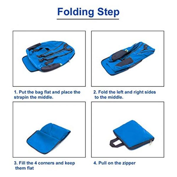 Bidiri Tactical Backpack 4 Bidiri Ultra Light Folding Backpack Waterproof Foldable Daypack Portable Travelling Pack Casual Handy Backpack for Hiking Camping Sports School for Men Women
