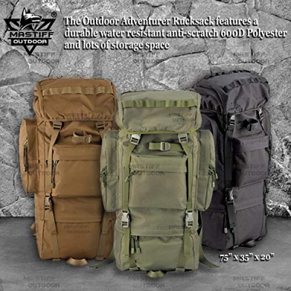 Mastiff Outdoor Tactical Backpack 2 Mastiff Outdoor Adventure Rucksack MOLLE Hiking Camping Gear Travel Survival Functional Backpack