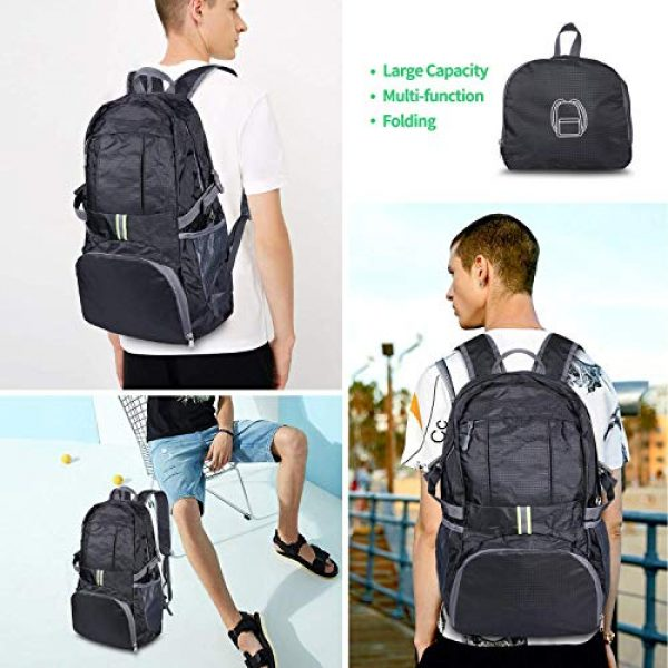 Surcotto Tactical Backpack 6 Surcotto Hiking Backpack, Foldable Water Resistant Daypack Packable Laptop Backpack Outdoor Camping