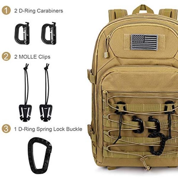 G4Free Tactical Backpack 3 G4Free Expandable Tactical Backpack Military Shoulder Pack 45L-50L Army Molle 3 Day Assault Rucksack