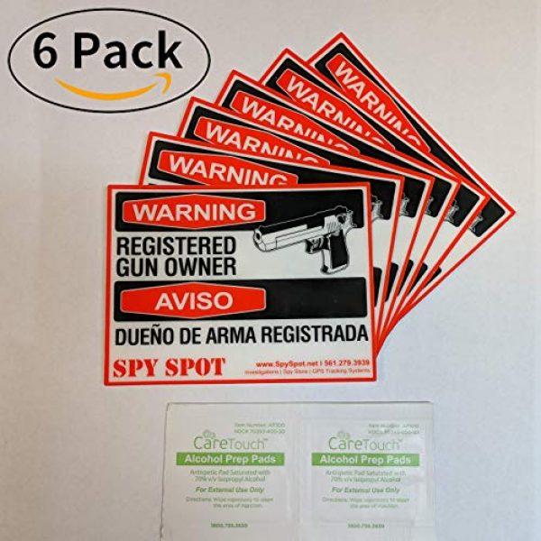 "Spy Spot Gun Owner Sticker 5 Spy Spot 6 Pack Registered Gun Owner Sticker Decal Vinyl Door or Window 4"" x 3"" UV Resistant Weatherproof"
