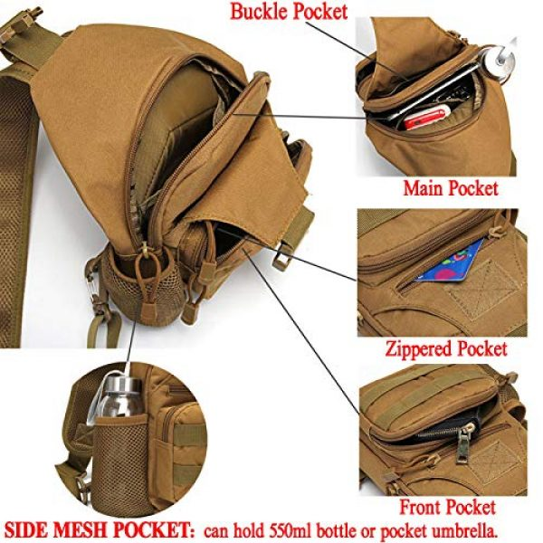 Ydmpro Tactical Backpack 5 Ydmpro Tactical Sling Bag, Chest Pack Molle Daypack Military Crossbody Shoulder Bags