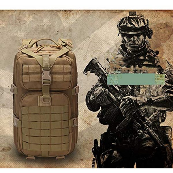 Suoki Tactical Backpack 6 Molle Assault Pack 45L Military Tactical Backpack 3 Day Pack Bag Survival Rucksack