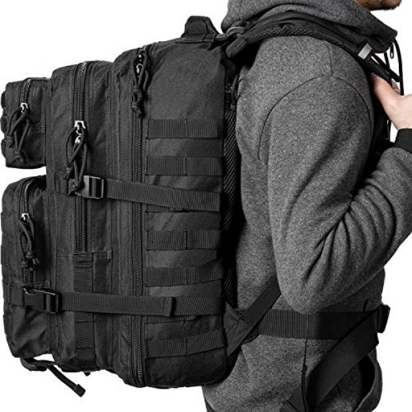 RUPUMPACK Tactical Backpack 7 RUPUMPACK Military Tactical Backpack Large Army 3 Day Assault Pack 42L Camping Survival Rucksack Molle Bug Out Bag with 3L Water Bladder