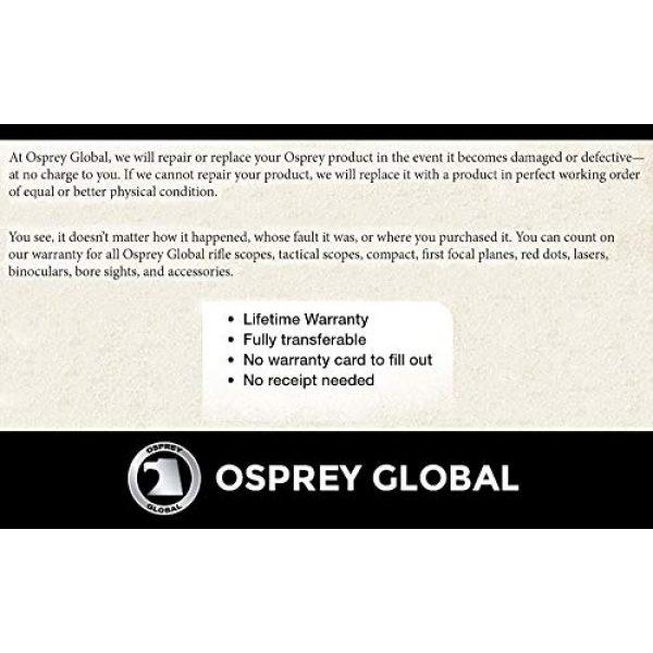 Osprey Global Rifle Scope 6 Osprey Global SD6X42MOA Standard MOA Reticle Hunting Scope, 6X 42mm, Matte Black