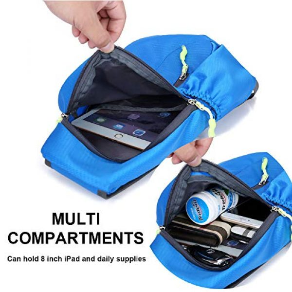 Peicees Tactical Backpack 4 Peicees Sling Backpack Shoulder Chest Crossbody Bag Purse Lightweight Waterproof Daypack for Men Women