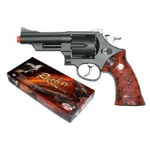 UHC Airsoft Pistol 1 TSD Sports UG131 4 Inch Gas Powered Non-Blowback Airsoft Revolver (Black)