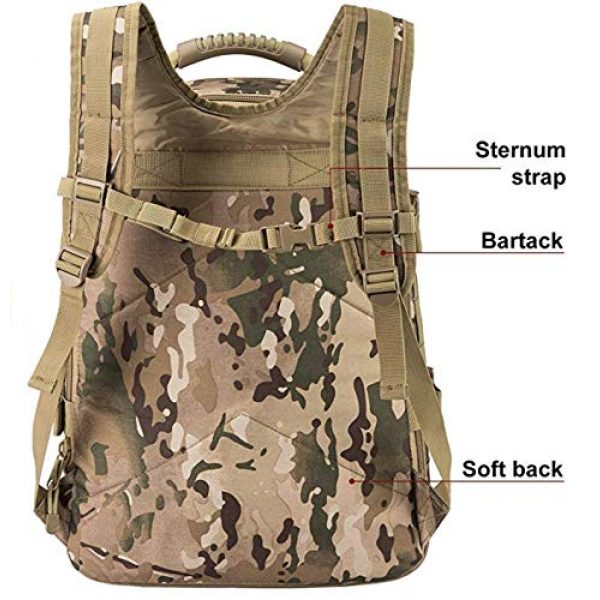 Scorpion Tactics Tactical Backpack 6 Scorpion Tactics Expandable Outdoor Large Backpack Tactical Backpack Army Assault Rucksack Pack Bug Out Bag TAN ST-LAB202006