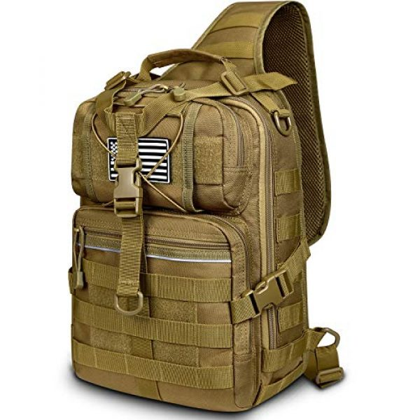 G4Free Tactical Backpack 1 G4Free Tactical Sling Backpack Big Molle EDC Assault Range Bag Pack Military Style for Concealed Carry