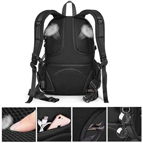 MOSISO Tactical Backpack 4 MOSISO Tactical Backpack, 2-Layer Multifuntional Large Molle Rucksack Daypack Adjustable Shoulder Back Pack Bag with Side Bottle Holder/USA Flag for Sport Outdoor Hiking Camping Training, Black