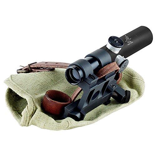 Bering Optics Rifle Scope 1 BERING OPTICS Russian 3.5x20 PU Scope with Solid Steel Mosin-Nagant Rifle Mount, Black