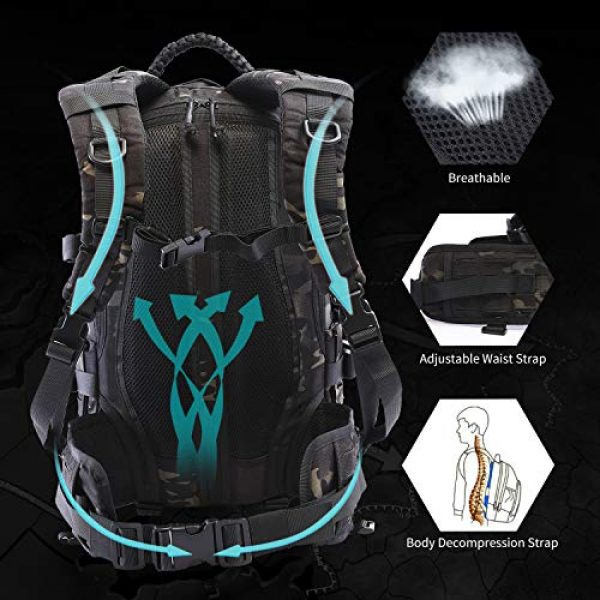 VOTAGOO Tactical Backpack 5 VOTAGOO Tactical Military Backpack Molle Bag Rucksack 30 L Army Assault Pack Outdoor Travel Hiking Camping