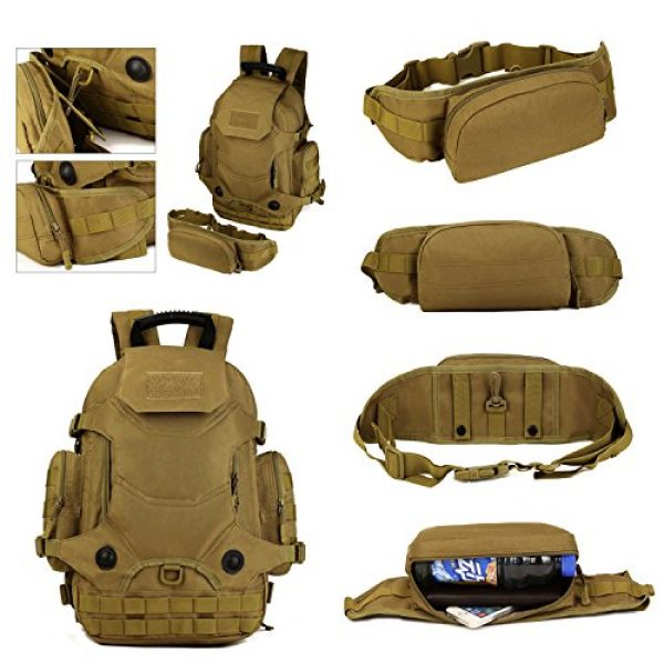 Huntvp Tactical Backpack 5 Huntvp 40L Tactical Military MOLLE Backpack WR 3 Way Modular Pack with Patch