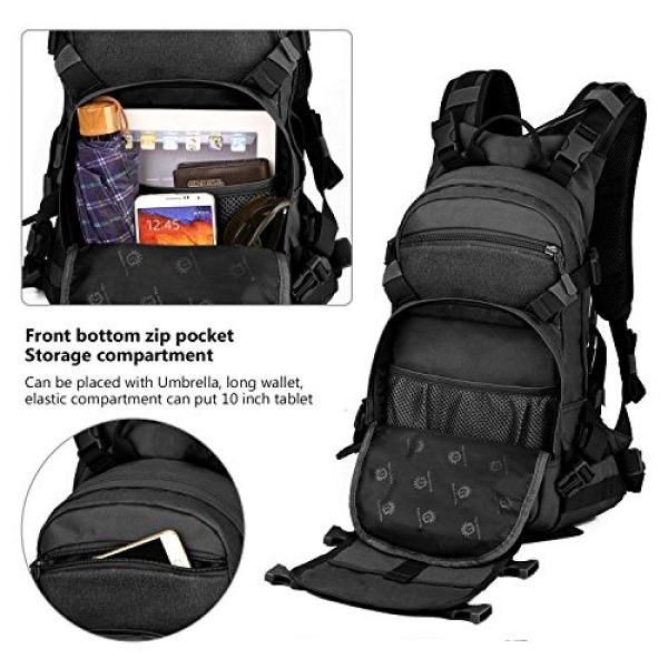 ArcEnCiel Tactical Backpack 6 ArcEnCiel 25L Tactical Motorcycle Cycling Backpack Military Molle Pack Helmet Holder with Patch - Rain Cover Included
