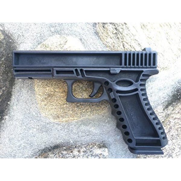GARRET MACHINE Rubber Training Pistol Blue Gun 1 GARRET MACHINE Plastic Inert Training Pistol Compatible with Glock (Black, 17)