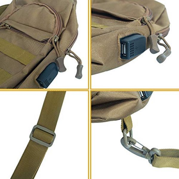 Saigain Tactical Backpack 6 Saigain Men's Tactica Small Sling Backpacks Chest Shoulder Bag Molle Casual with USB Charging for Outdoor Hiking Camping