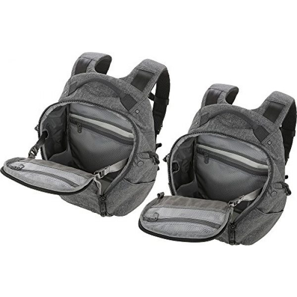 Maxpedition Tactical Backpack 7 Entity 21 CCW-Enabled EDC Backpack 21L (Charcoal)
