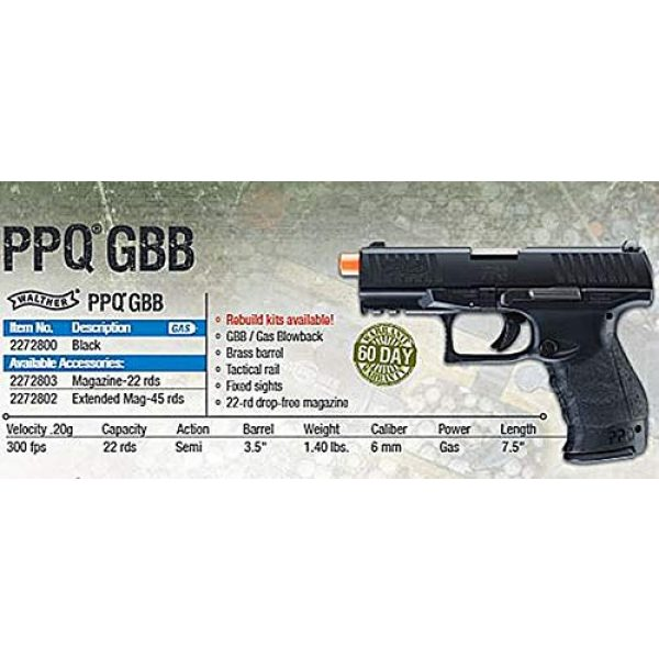 Elite Force Airsoft Pistol 5 Walther PPQ GBB Blowback 6mm BB Pistol Airsoft Gun