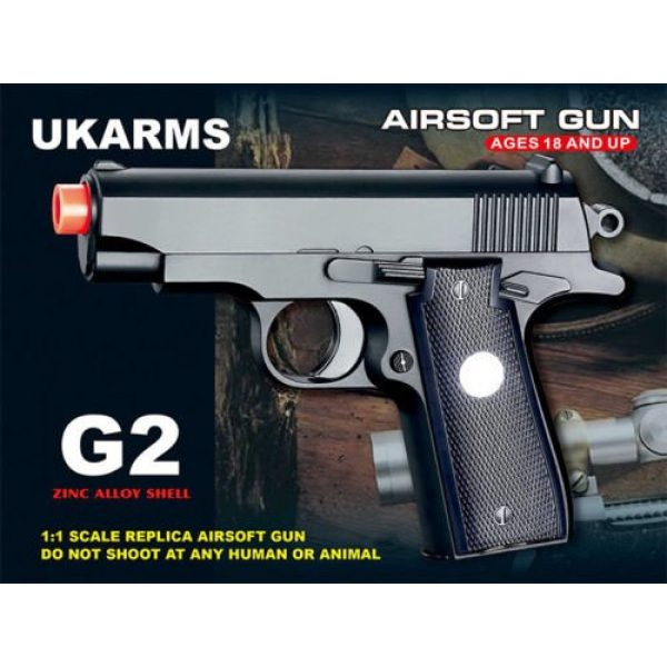 GALAXY Airsoft Pistol 4 GALAXY G2 Officer Metal Spring Compact Airsoft Pistol Hand Gun w/ 6mm BB BBS