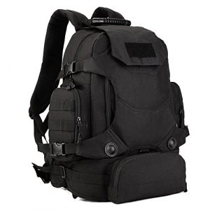 Huntvp Tactical Backpack 1 Huntvp 40L Tactical Military MOLLE Backpack WR 3 Way Modular Pack with Patch
