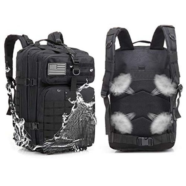 Suoki Tactical Backpack 7 Molle Assault Pack 45L Military Tactical Backpack 3 Day Pack Bag Survival Rucksack