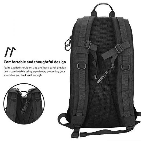 """ProCase Tactical Backpack 4 ProCase Tactical Outdoor Backpack 30L with Molle Laptop Compartment Back Panel, EDC Military Outdoors Daypack Rucksacks for Men Women Travel Hiking Riding Hunting Trekking """"Black, 1000D Nylon"""