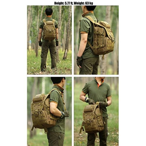 ArcEnCiel Tactical Backpack 7 ArcEnCiel Tactical Backpack Military Army 3 Day Assault Pack - Rain Cover Included