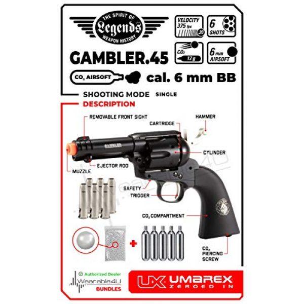 Wearable4U Airsoft Pistol 2 Wearable4U Umarex Limited Ed - Legends Gambler Custom Revolver Airsoft BB Airgun with 5X 12gr CO2 Tanks Pack of 1000 6mm EF BBS Bundle