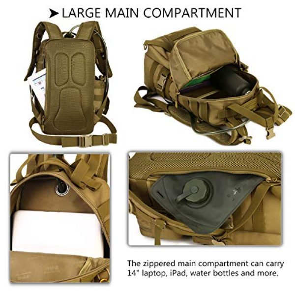 Protector Plus Tactical Backpack 7 Protector Plus Tactical Motorcycle Backpack Small Military MOLLE Cycling Hydration Daypack (Rain Cover & Patch Included)