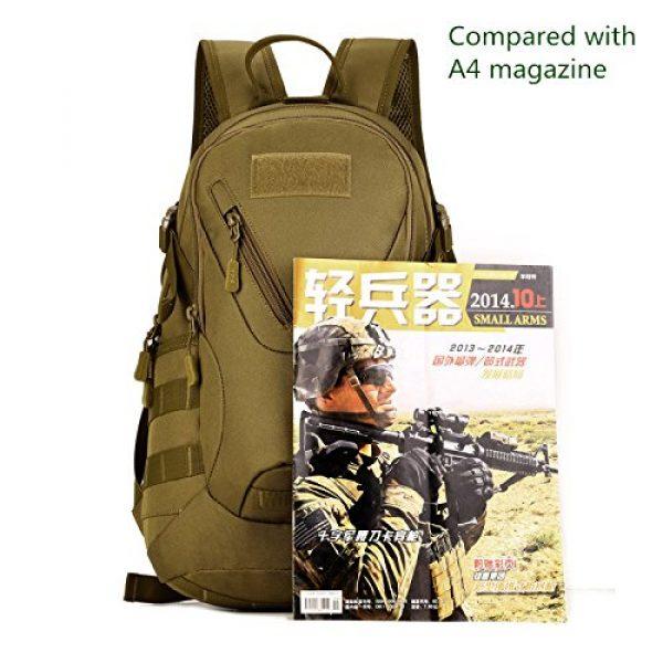 Huntvp Tactical Backpack 2 Huntvp Military MOLLE Backpack Rucksack Gear Tactical Assault Pack Student School Bag 20L for Hunting Camping Trekking Travel