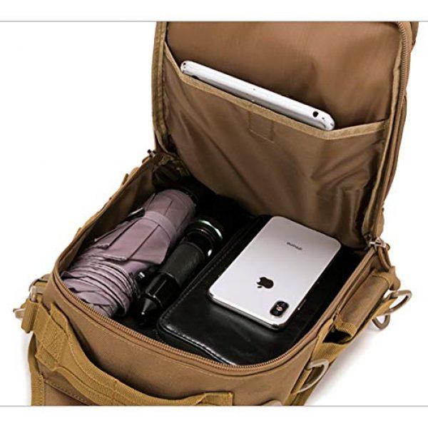 Ornate Tactical Backpack 6 Ornate Tactical Sling Bag, 600D Bug Out Molle Backpack
