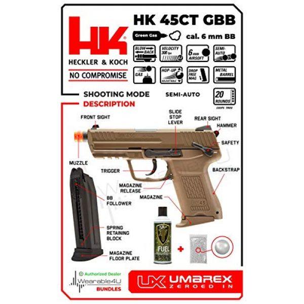 Wearable4U Airsoft Pistol 6 Wearable4U Elite Force H&K45CT GBB(VFC) Airsoft Pistol Green Gas BB Air Soft Gun with Bundle