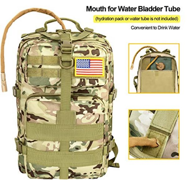 CVLIFE Tactical Backpack 3 CVLIFE Military Tactical Backpack Army 3 Day Assault Pack Molle Bag EDC Rucksack