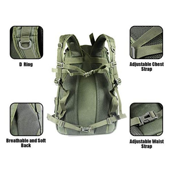 LHI Tactical Backpack 6 LHI Military Tactical Backpack for Men and Women 45L Army 3 Days Assault Pack Bag Large Rucksack with Molle System