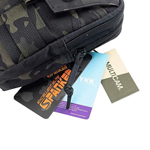 EXCELLENT ELITE SPANKER  6 EXCELLENT ELITE SPANKER Tactical Molle EDC Pouch Nylon Belt Waist Bag Camping Hiking Organizer with Cellphone Holster for iPhone 12Pro 12 11ProMax XsMax XR XS X 8Plus 8 7 6 Samsung Galaxy Note 9 S9