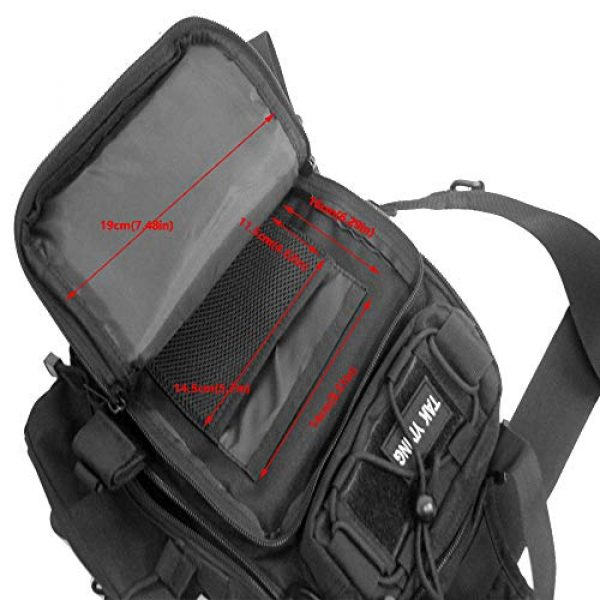 TAK YIYING Tactical Backpack 4 Tactical Sling Backpack Waterproof Shoulder Bag With Waterproof Rainproof Backpack Pack Cover (Black)