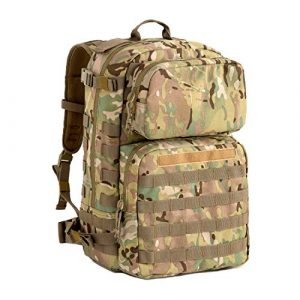 MT Tactical Backpack 1 MT Military FILBE Assault Pack with Assault Pouch, Army Tactical Rucksack Backpack Multicam