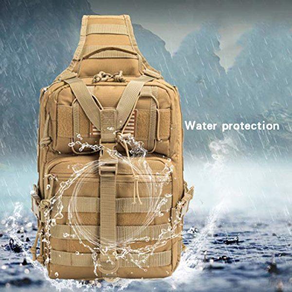 SHELCUP Tactical Backpack 4 SHELCUP EDC Sling Bag Pack, Rover Shoulder Molle Backpack, with USA Flag Patch