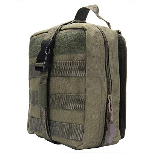 ASEEBY Tactical Pouch 2 ASEEBY First Aid Kit Utility MOLLE Pouch Bag Rip-Away Tactical Bag Compact Accessory Tool Carrier Pocket for Military Advanture Outdoor Camping