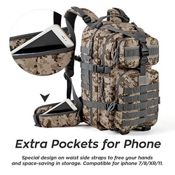 Gelindo Tactical Backpack 5 Gelindo Military Tactical Backpack, Army Molle Bag for Hunting, Camping,Hiking 35L