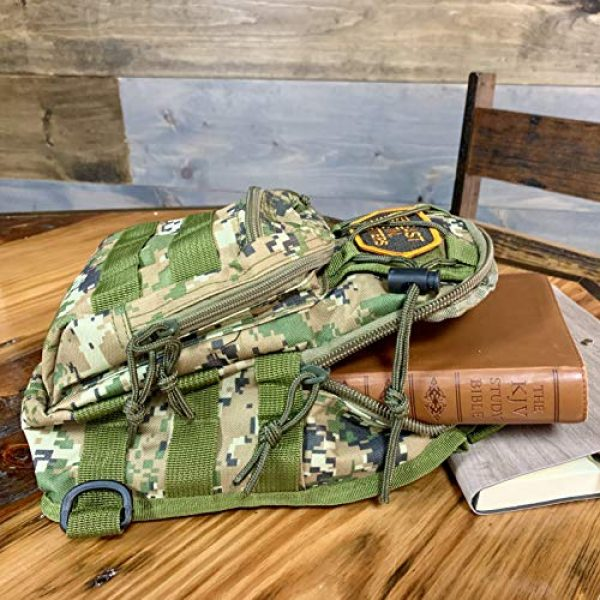 EAST TN. OUTFITTERS ACCURACY MATTERS Tactical Backpack 7 East TN. Outfitters Tactical Sling Bag with Holster Conceal Carry Shoulder Mens Bible Diaper Pack EDC Hunting Fishing Hiking