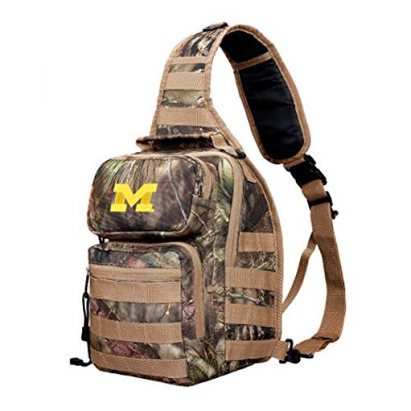 """The Northwest Company Tactical Backpack 2 Officially Licensed NCAA """"Flyover"""" Tactical Slingpack, 12"""", Mossy Oak"""