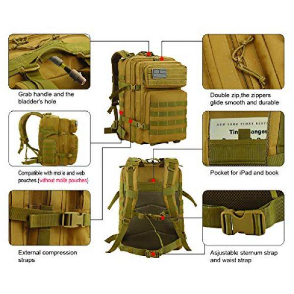 Luckin Packin Tactical Backpack 6 Luckin Packin Tactical Backpack,Military Backpack,Molle Bag Rucksack Pack,45 Liter Large