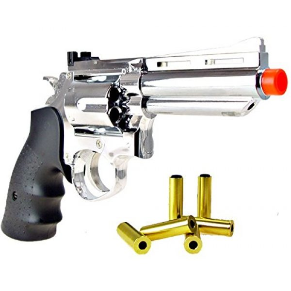 HFC Airsoft Pistol 1 HFC model-132 4 revolver a2 silver by hfc(Airsoft Gun)