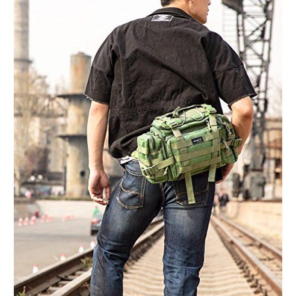 SHANGRI-LA Tactical Backpack 2 SHANGRI-LA Tactical Range Bag Outdoor Sling Backpack Hiking Fanny Waist Pack