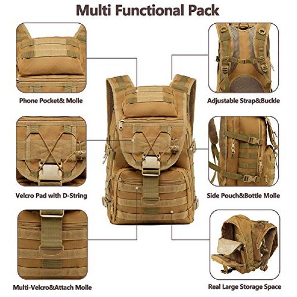 T1FE 1SFE Tactical Backpack 5 T1FE 1SFE Military Tactical Backpack, Tactical Bag, Assault Pack- Molle Bug Out Bag Large
