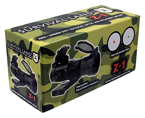 Survival Land Rifle Scope 7 Survival Land Z-1 Red & Green Dot Sight/Tactical Reflex Micro-dot Scope