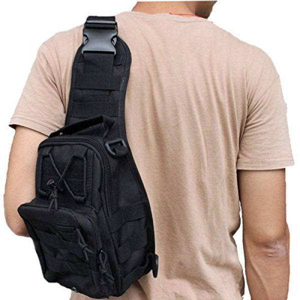 REDGO Tactical Backpack 6 REDGO Tactical Shoulder Chest Bag Military Crossbody Oxford Cloth Comfortable Crossed Backpack for Trekking Camping Hiking