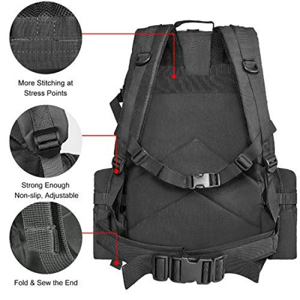 CVLIFE Tactical Backpack 4 CVLIFE Military Tactical Backpack Army Assault Pack Built-up Molle Bag Rucksack